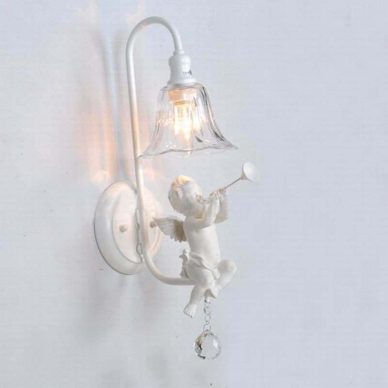 Bathroom vanity lightsfashional modern white angel wall lampwhite bathroom vanity lightsfashional modern white angel wall lampwhite wall lamps lighting fixture aloadofball Choice Image