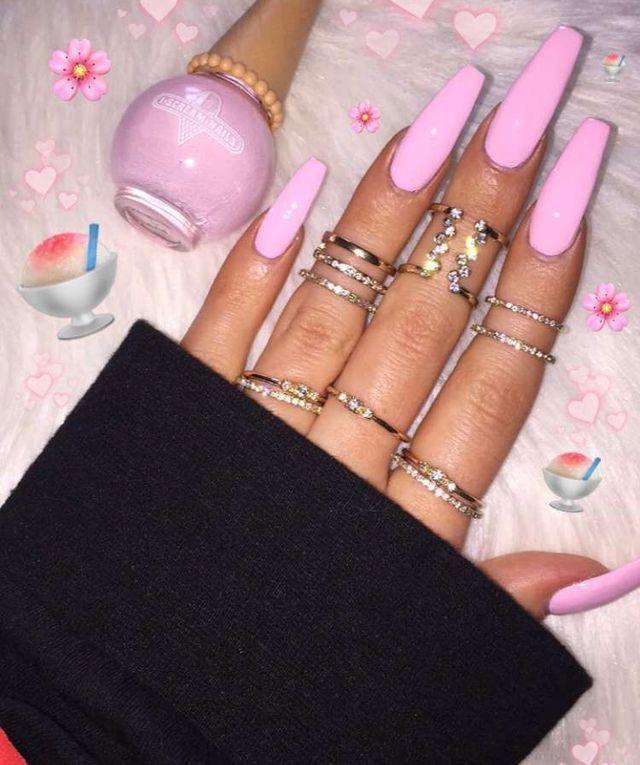 Pin By Amaya Ayers On Nails Coffin Shape Nails Pink Acrylic Nails Gorgeous Nails