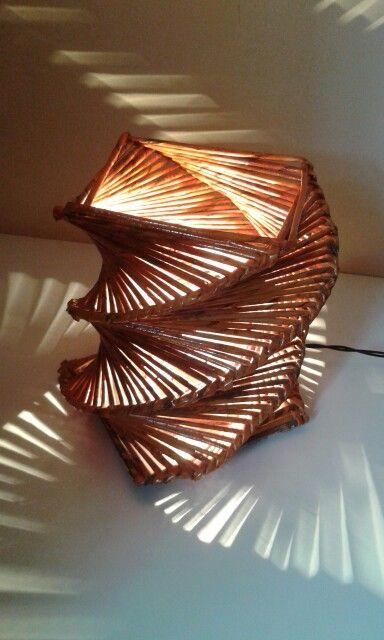 Luminaria Moderna Papel Periodico Reciclar Artesanato Com