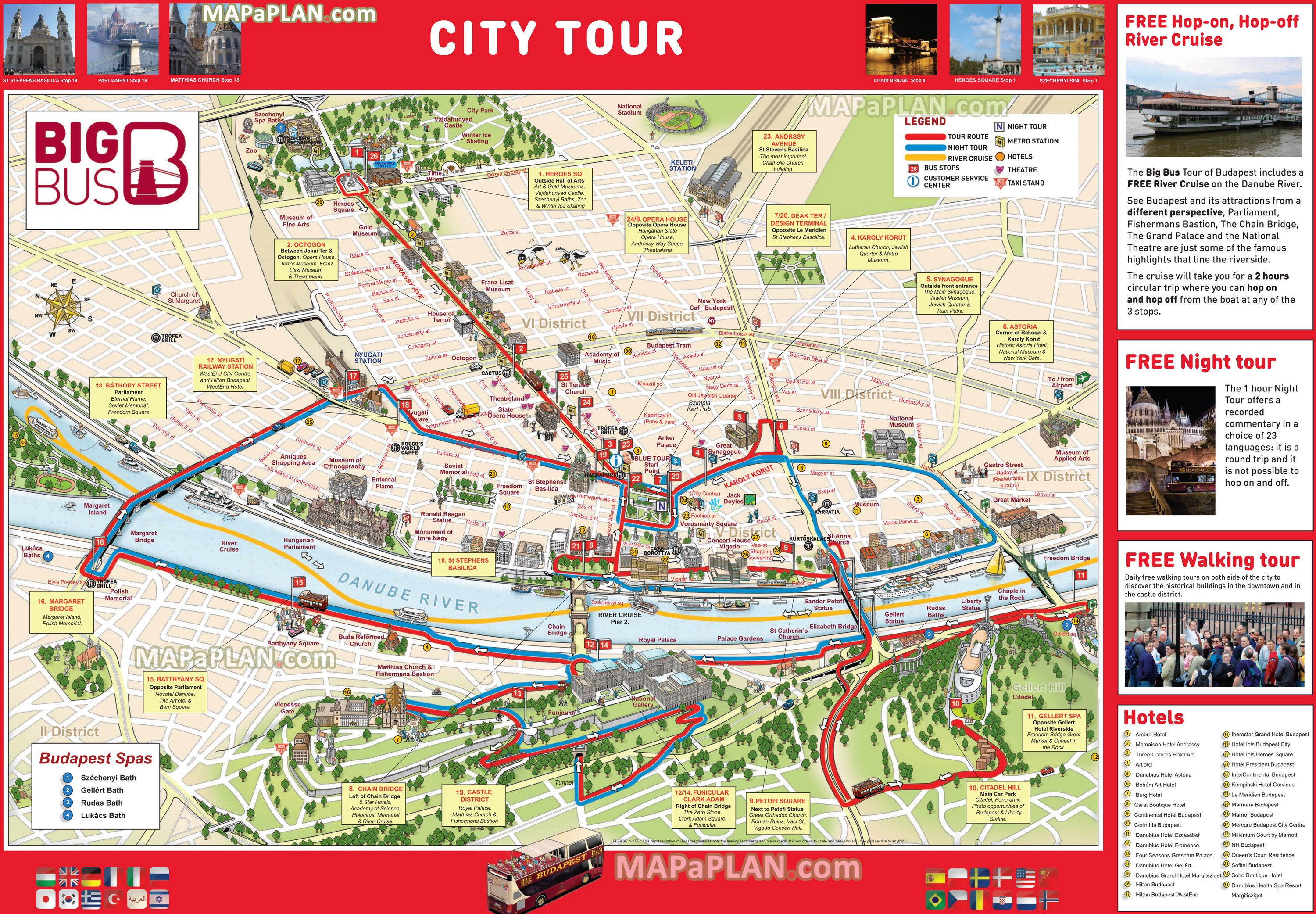 Budapest Top Tourist Attractions Map 05 Big Bus City Sightseeing