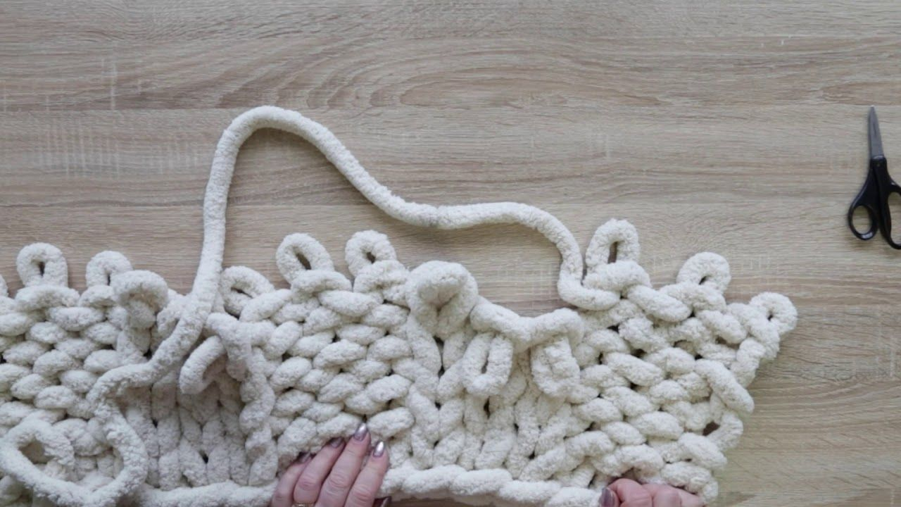 HOW TO HAND KNIT A CABLE CHUNKY CHENILLE BLANKET in 2020