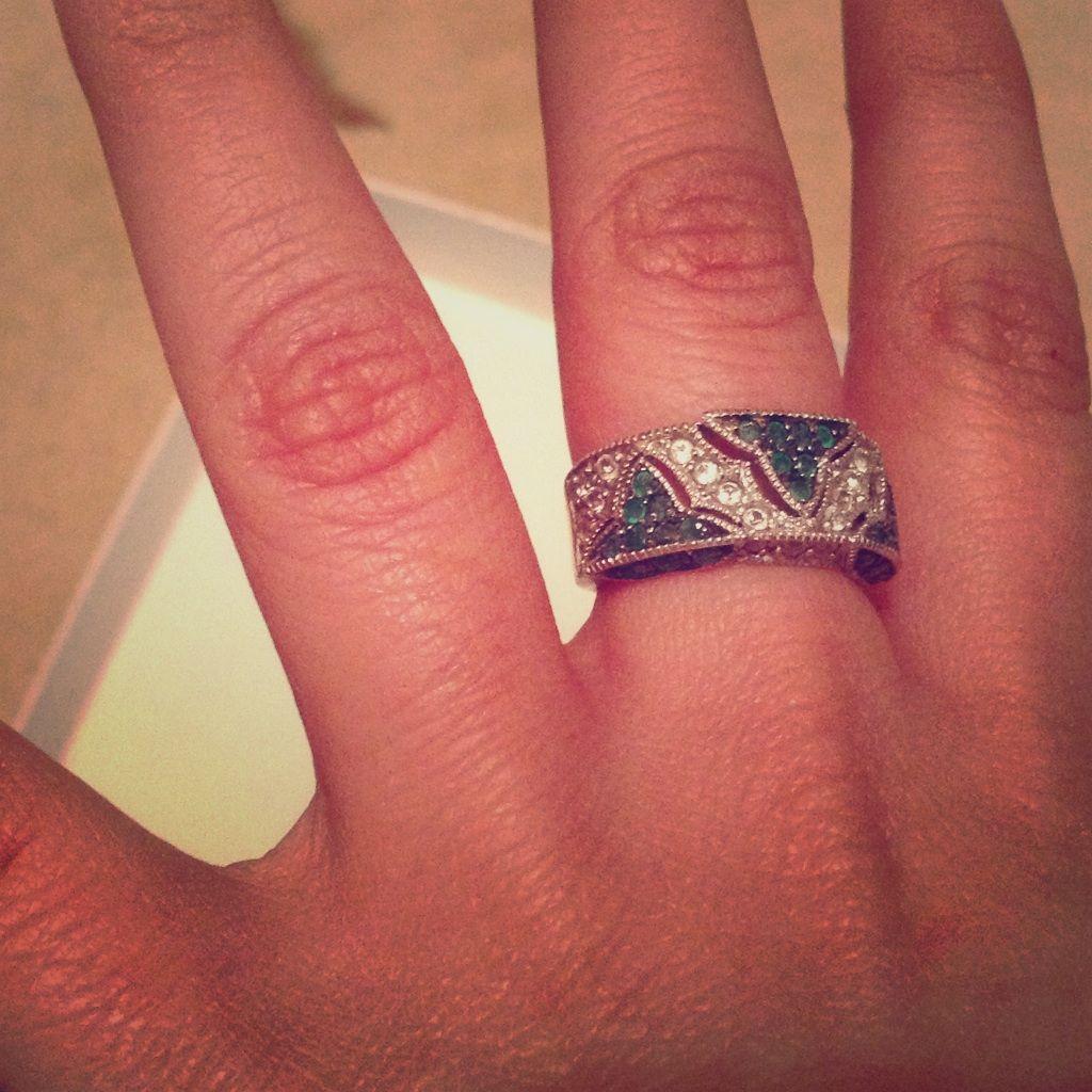 Landau Sterling Silver Cubic Zirconia Ring Size 6 | Cubic zirconia ...