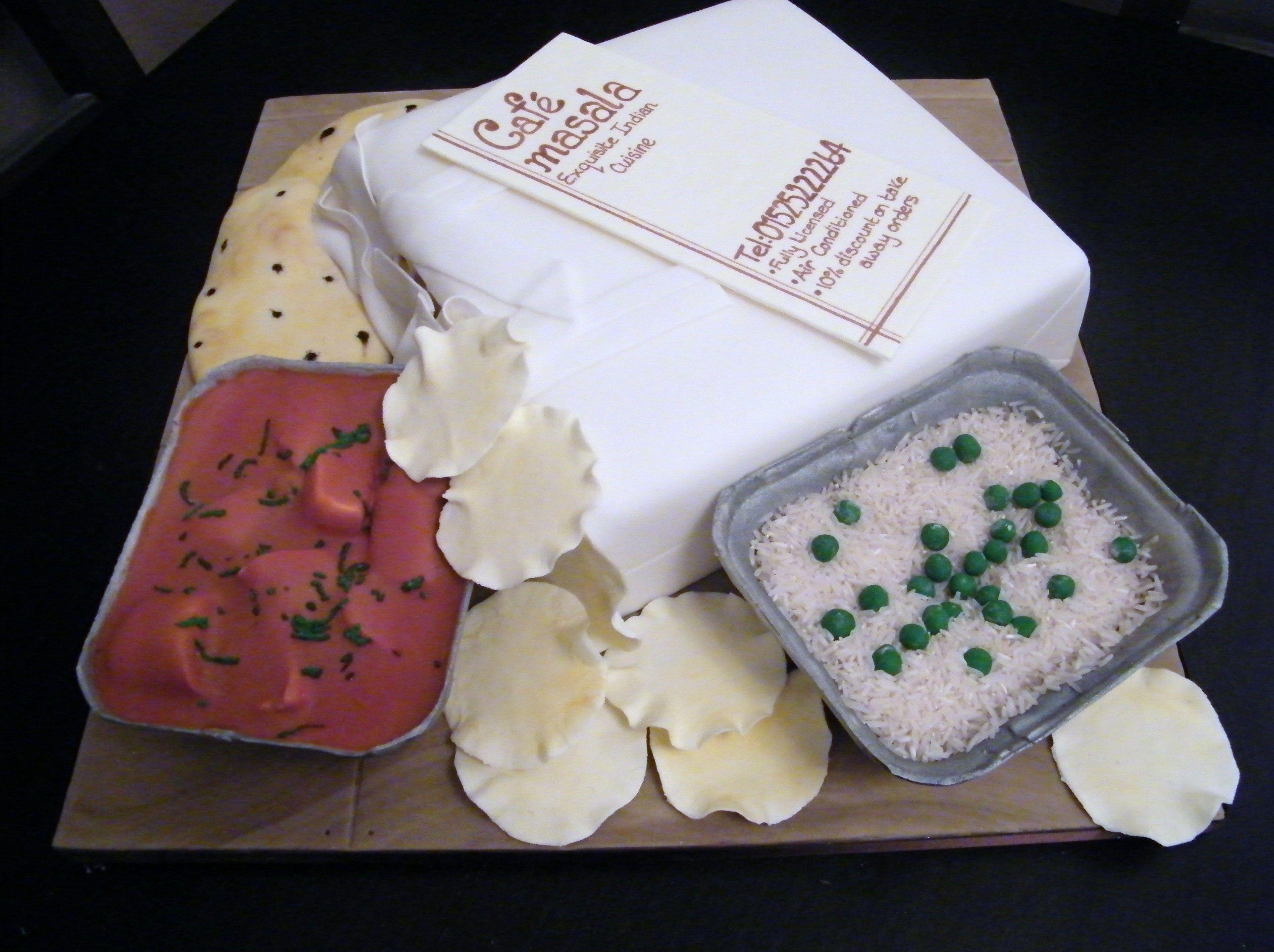 Chinese Takeaway Birthday Celebration Cake By La Belle Cake Company