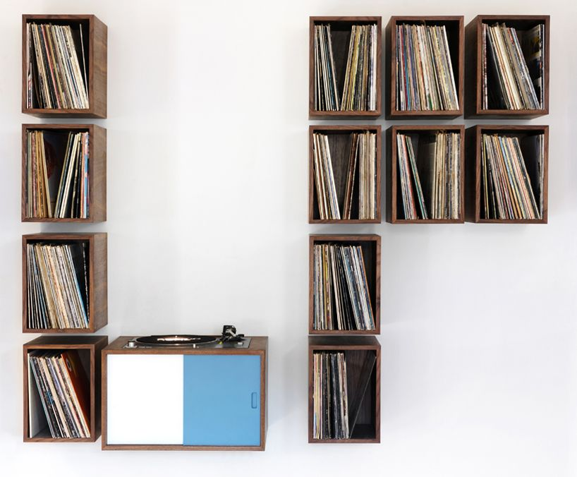 Turn Table And Vinyl Record Storage By Broken Home