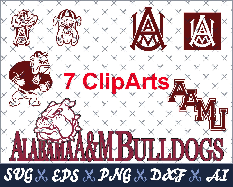 Alabama A M Bulldogs Svg College Logo Svg Vector Files Designed