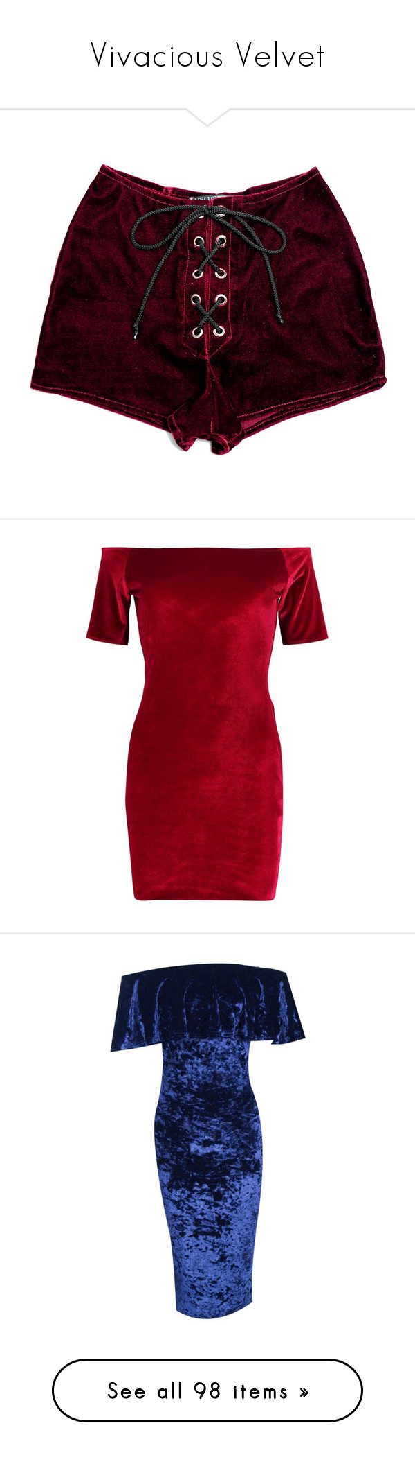 """""""Vivacious Velvet"""" by juliasmiles ❤ liked on Polyvore featuring shorts, bottoms, pants, red, stretch shorts, eyelet shorts, dragon shorts, red velvet shorts, red shorts and dresses"""