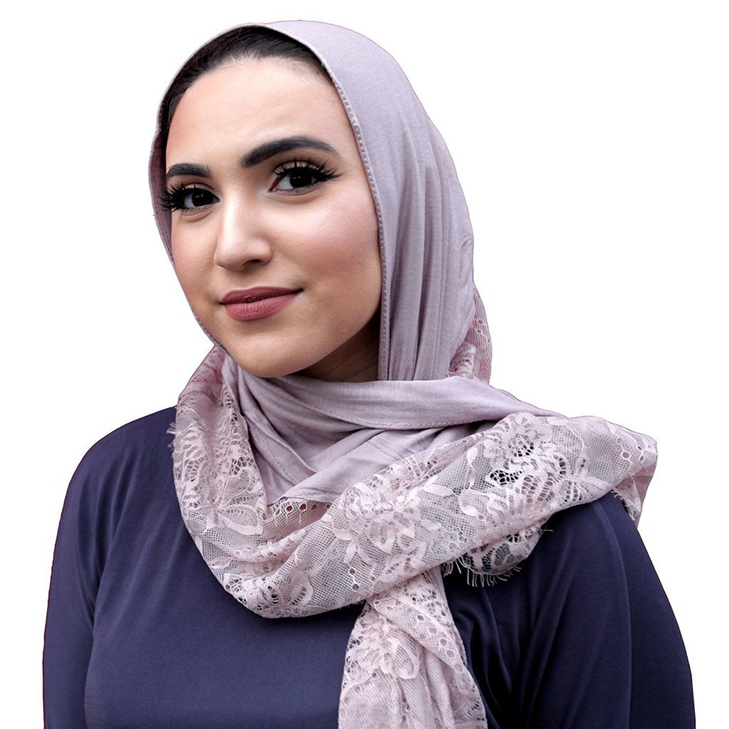 f4906469e02cb Amazon.com: Jersey Lace Hijab - Chocolate: Clothing | Jersey Lace ...