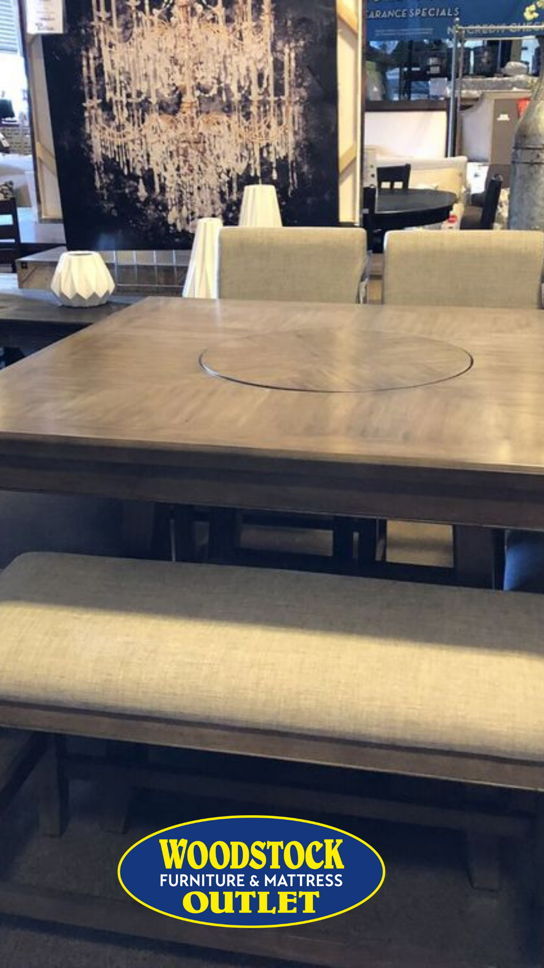 Manning Counter Height Table 4 Chairs Counter Height Table Square Dining Tables Mattress Furniture