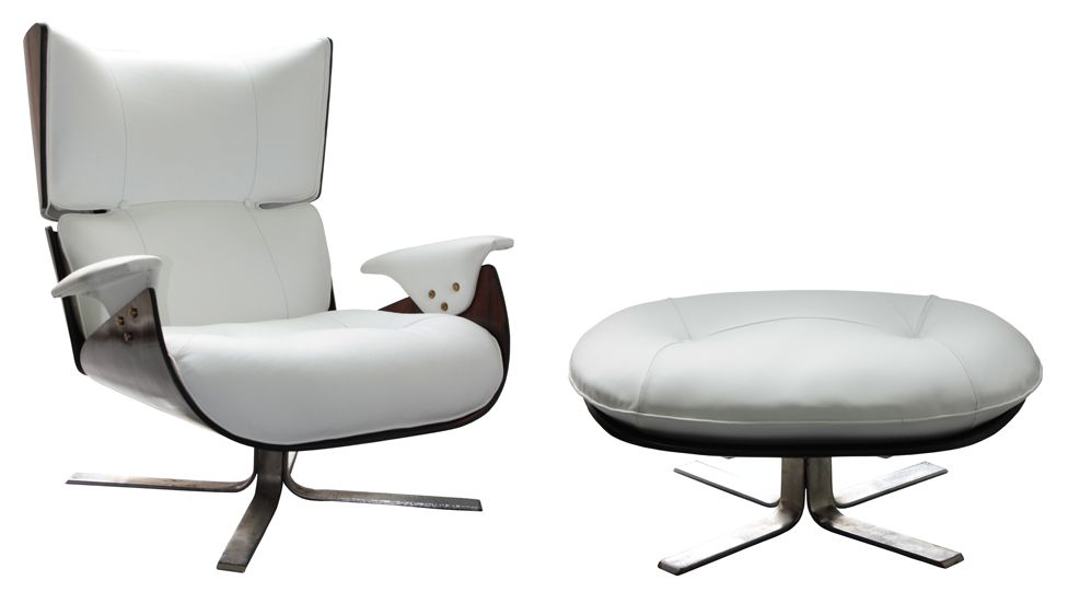 Jorge Zalszupin Paulistana armchair and ottoman 60's