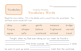 13++ Rustic second grade vocabulary worksheets Most Effective
