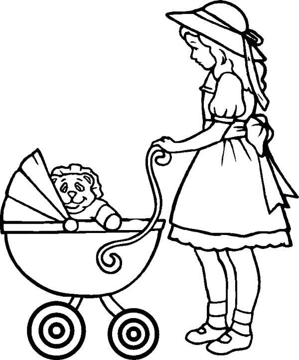 Babies In Stroller Coloring Pages Bulk Color Toddler Coloring Book Dog Coloring Book Cinderella Coloring Pages