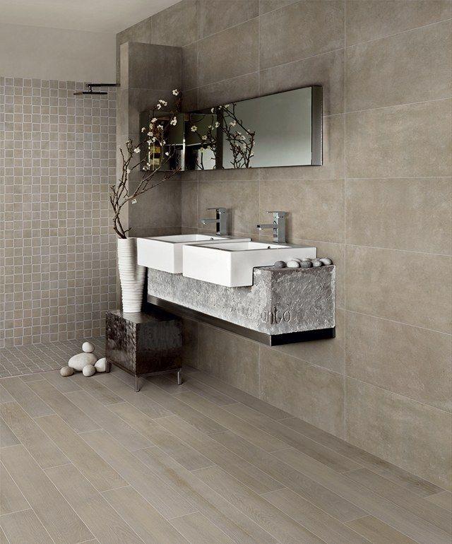 Carrelage Imitation Parquet Idees Pour L Interieur Moderne Salle De Bains Moderne Salle De Bain Design Carrelage Salle De Bain