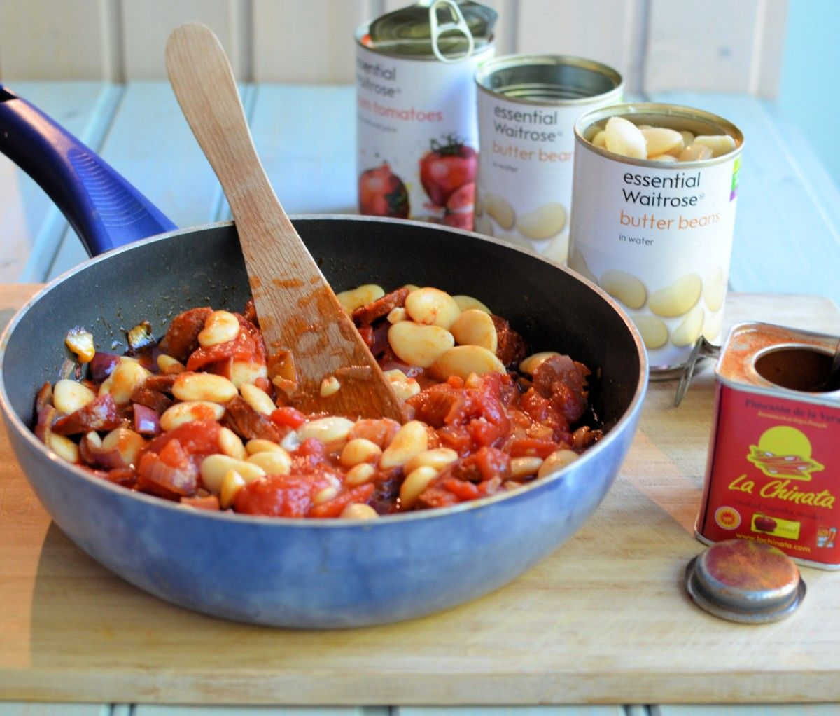 35 Make Ahead Camping Recipes For Easy Meal Planning: Smoky Chorizo And Butter Bean Hot Pot