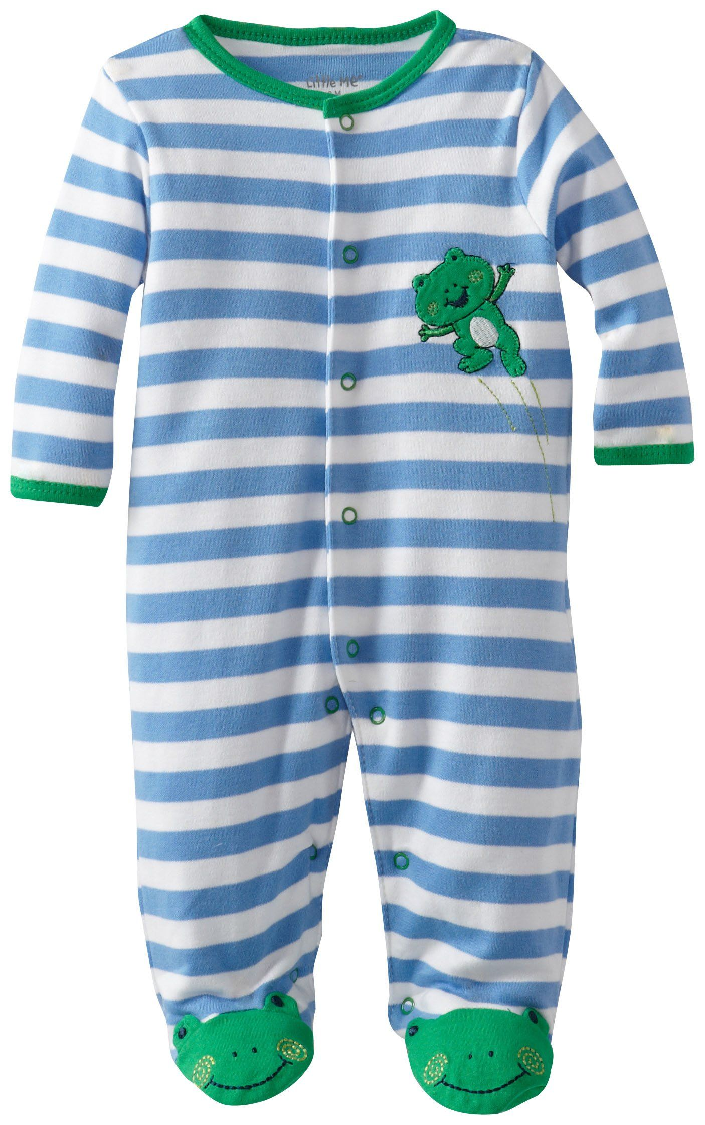 Amazon Little Me Baby Boys Newborn Leap Frog Footie Infant And