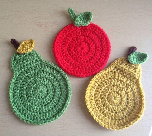 Angelas Crafts: Crochet fruits - Frutas en crochet | pegadores e ...