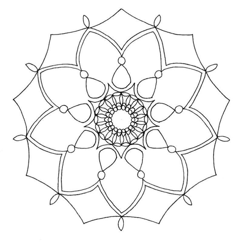 mandala to copy and color | mandala monday free mandalas to print ...