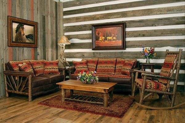 Log Cabin Furniture And Decor For Rustic Living Room Set Including Wooden Coffee Tables Close To