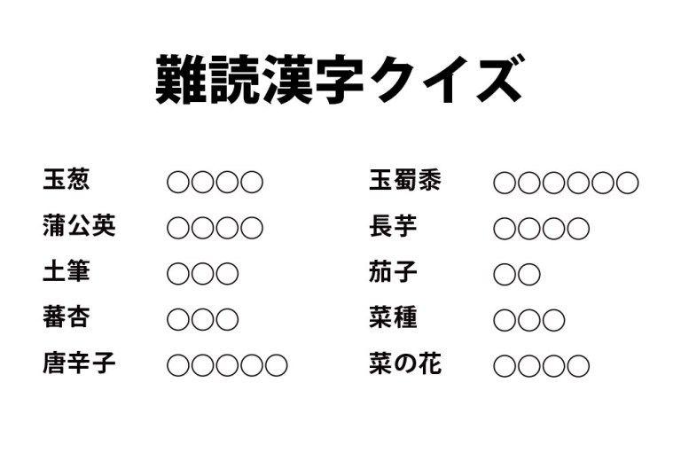 難しい 漢字