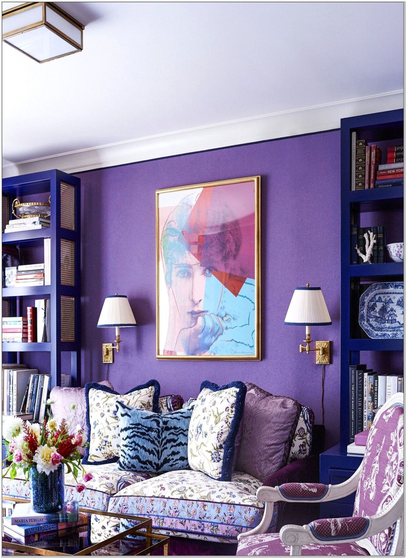 Purple Living Room Design Ideas in 5  Purple living room, Cute
