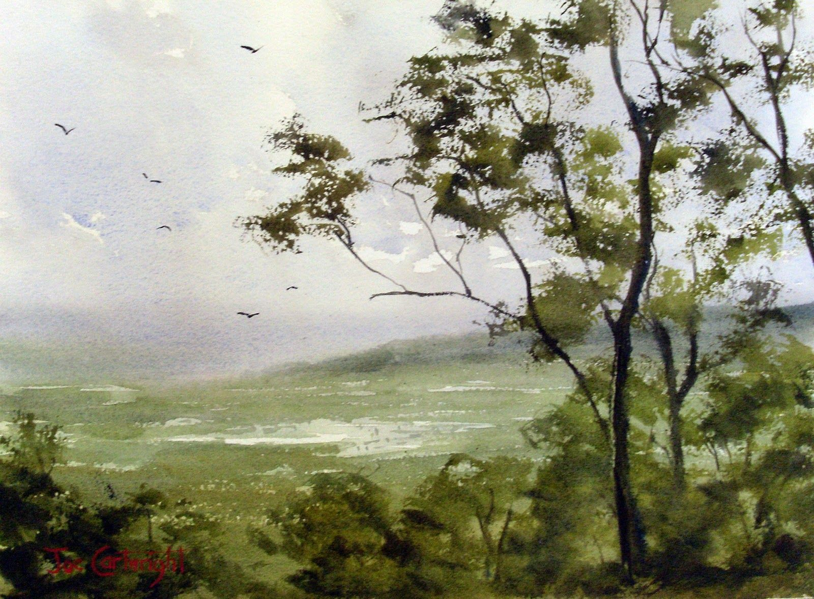New Watercolor Landscape Painting Demonstration Watercolor