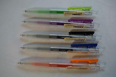 Muji Japan Ball Point Pen 5 Color 0 5mm 5 Pcs Muji Japan Color