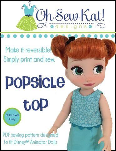 Popsicle Top Pattern For Disney Animator Dolls