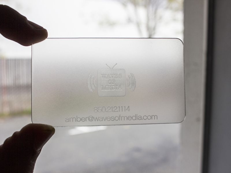 Plastic Engraved Business Cards Image collections - Card Design And ...