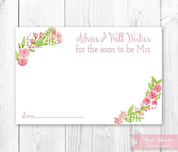 Printable Bridal Shower Card Hossroshanaco - Bridal shower card template