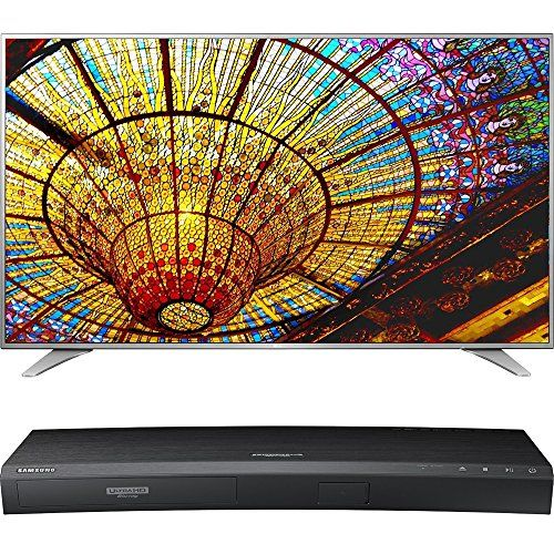 LG 75-Inch 4K UHD Smart TV w/ webOS 3.0 (75UH6550) with Samsung 3D Wi-Fi 4K Ultra HD Blu-ray Disc Player