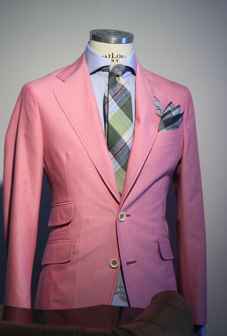 landerurquijo:  Pastel Suit Collection: you can match a pastel jacket with a pair of jeans /Colecciónde trajes color pastel: colores azul, verde o rosa que puedes combinar con unos jeans