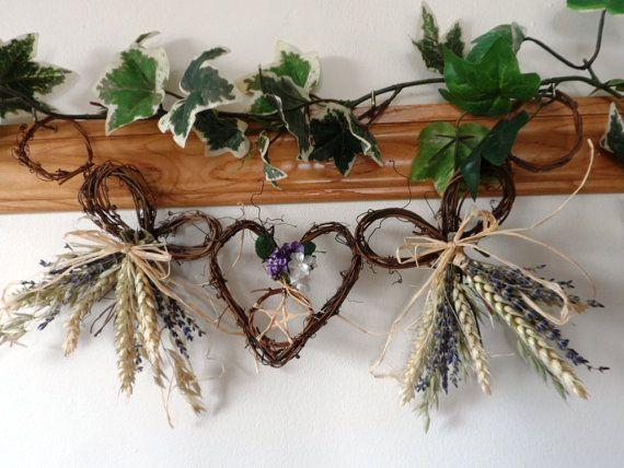 Handmade Vine wheat & Lavender Bows With par PositivelyPagan