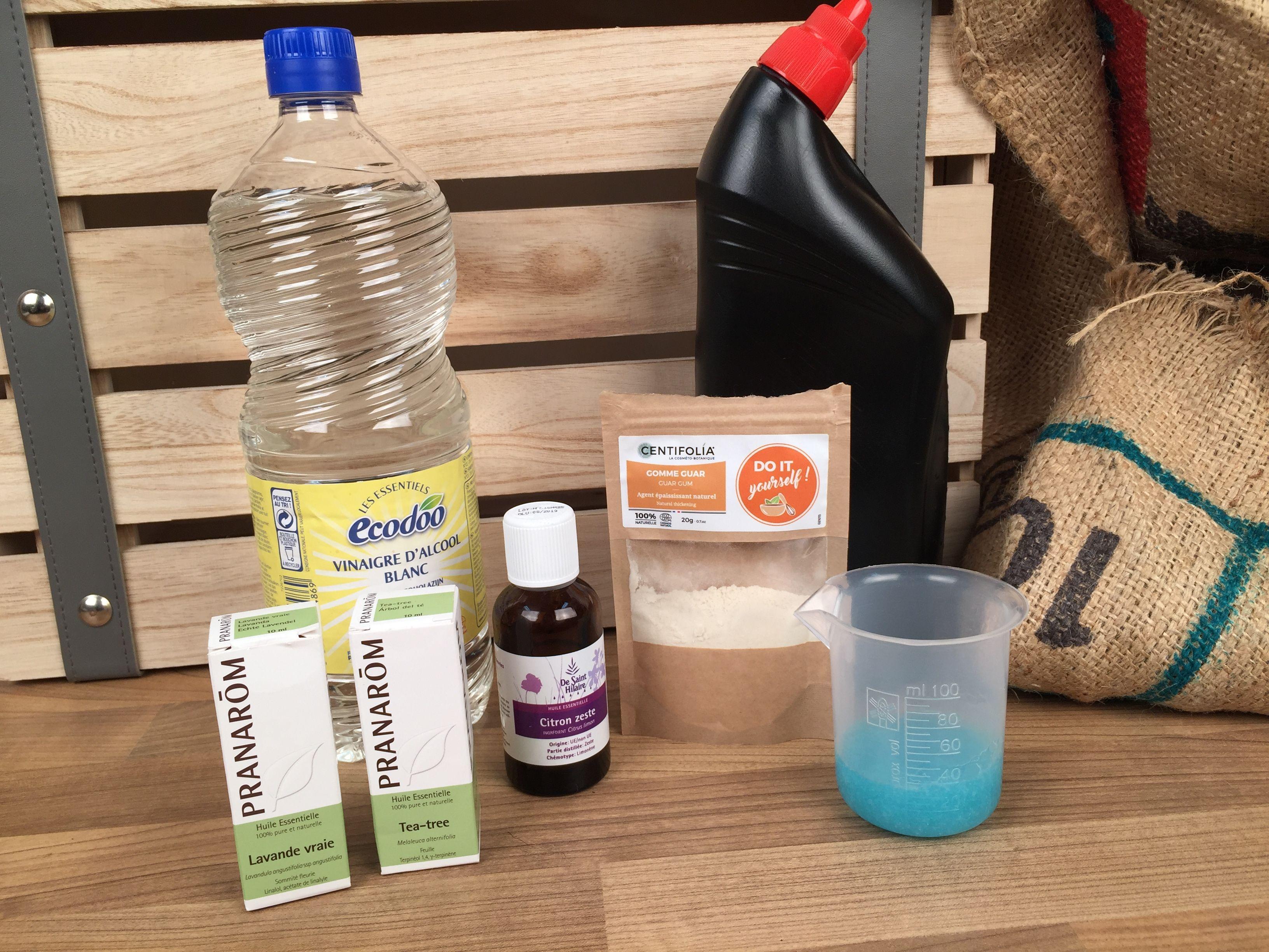 DIY : le gel de vinaigre multi-usages   Anti calcaire douche, Nettoyant, Produit nettoyant
