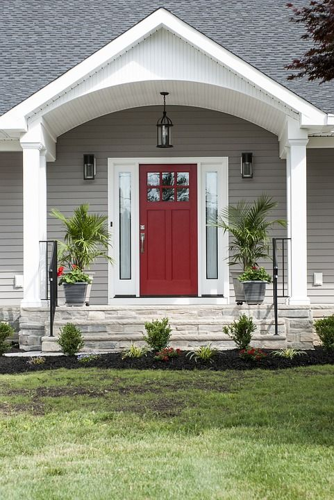 Why the color of your front door is so important porch ideas yard design house entrance exterior curb appeal also what does say about you rh pinterest