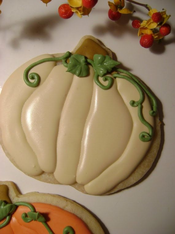 Pumpkin cookies by TreatsbuyTerri on Etsy