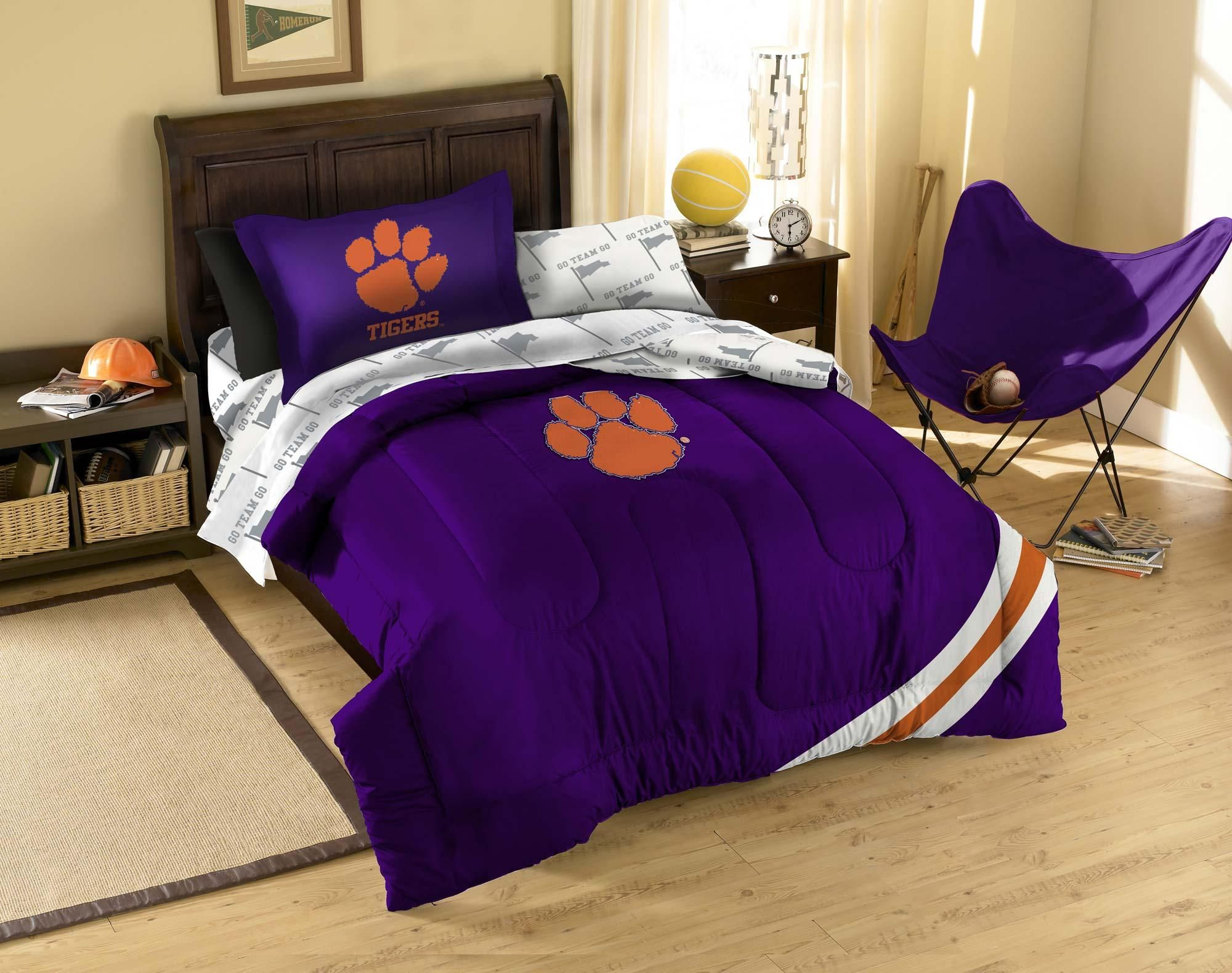 Obedding The Northwest Company Clemson Twin Bedding Set 5pc Ncaa Tigers College