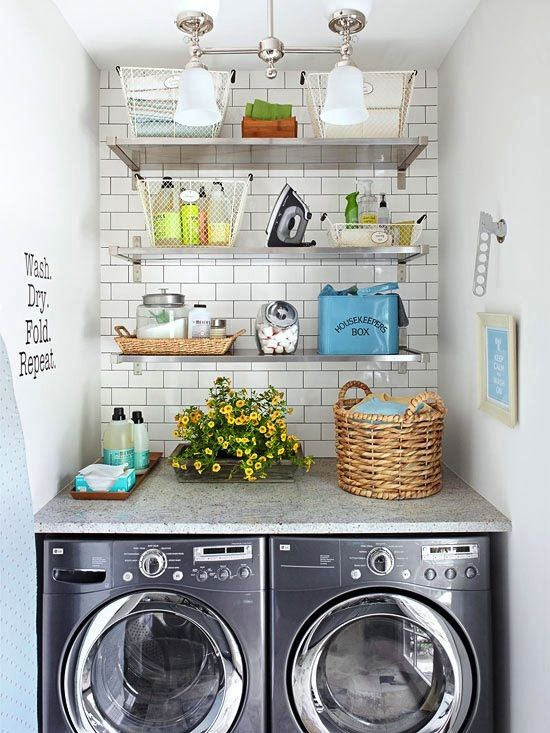Three Fab Laundry Rooms A Giveaway Laundry Nook Small