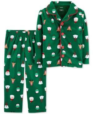 8ee2f4d06d6c Carter s Toddler Boys 2-Pc. Fleece Holiday-Print Pajamas - Green 5T ...