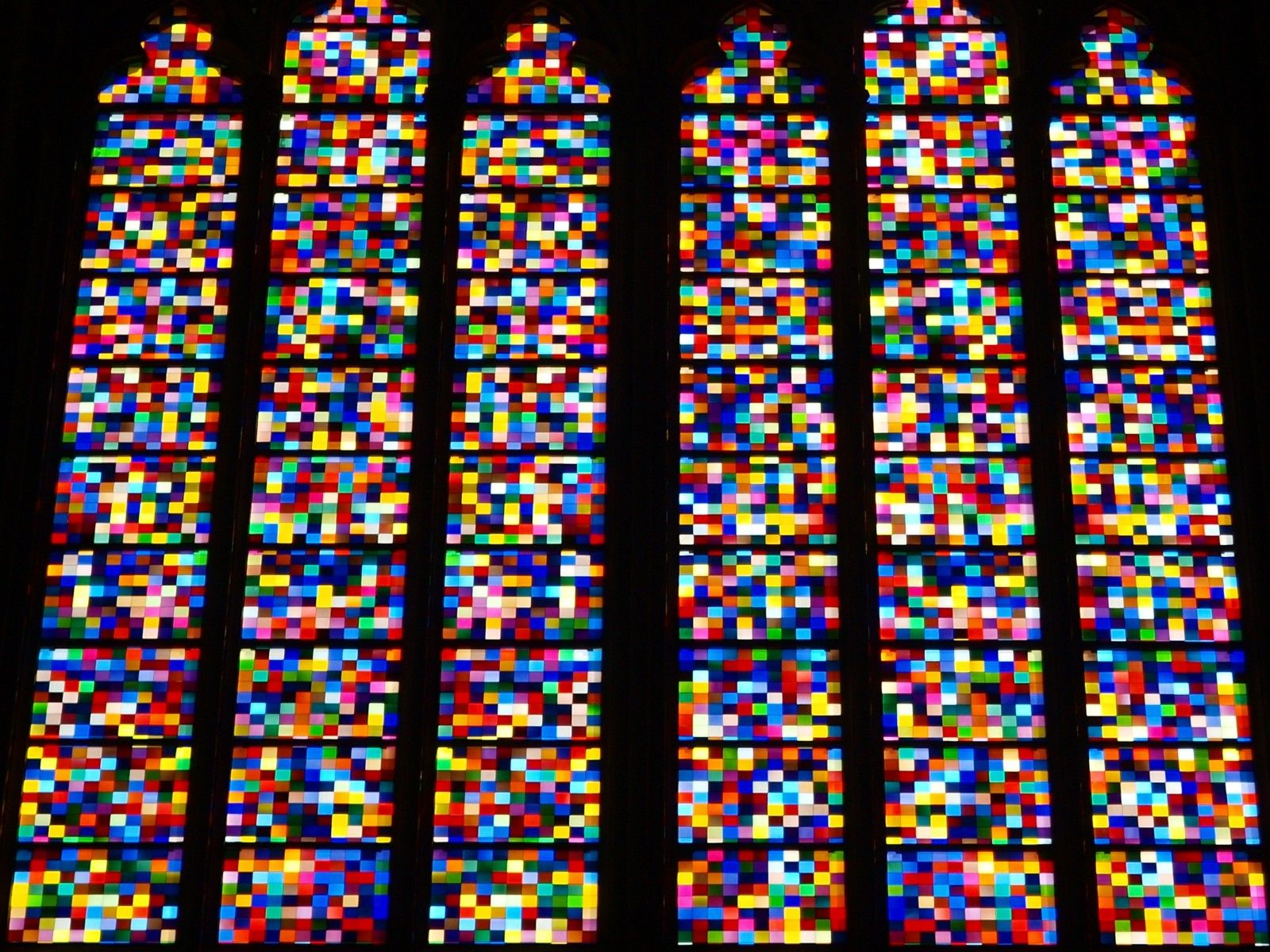 Gerhard Richter Kolner Domfenster Cologne Cathedral Window 2007 11 000 Hand Blown Glass Panels 7 Church Windows Gerhard Richter Gerhard Richter Abstract
