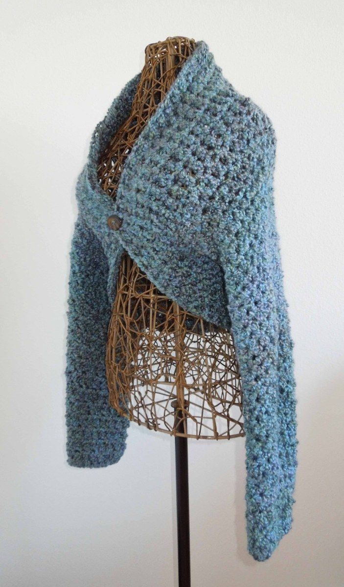 No Seam Shrug Crochet Pattern | Niños | Pinterest | Boleros, Ponchos ...