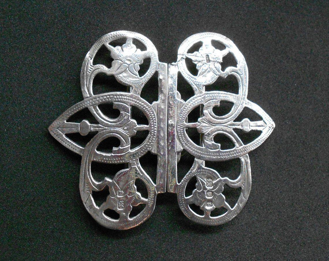 1cc3dfa91 Silver Nurse s Belt Buckle London 1974 Vintage Silver