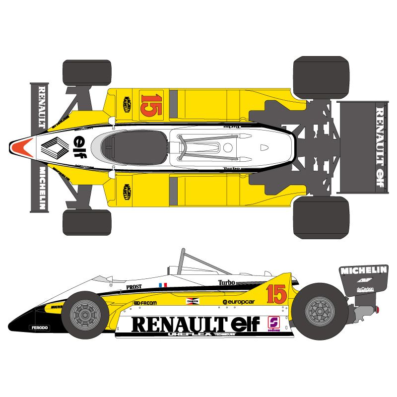 1 20 Renault Re30b 1982 Decals Tamiya Shk D233 Shunko Models Renault Renault Formula 1 Tamiya