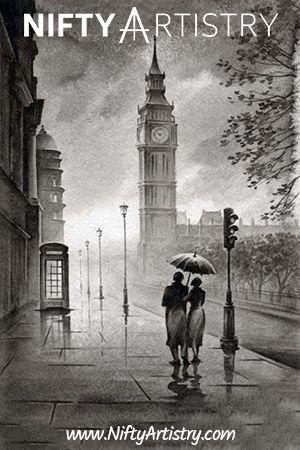 NEW Realistic Pencil Art Drawing of London & Big B