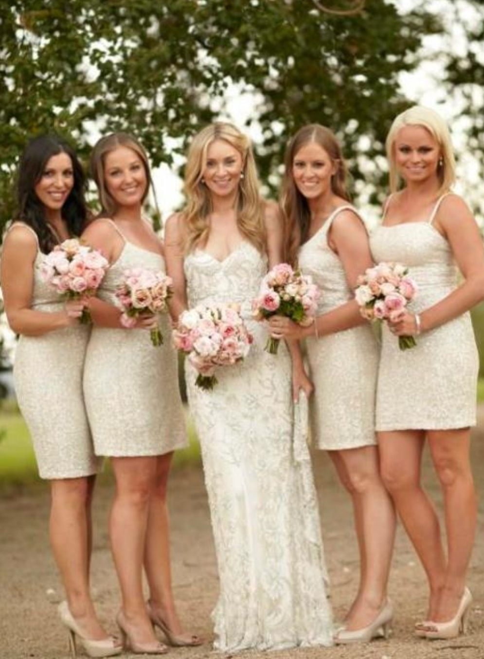 Amelia in her jane hill wedding dress jane hill summer brides love the bridesmaids dresses color ombrellifo Choice Image