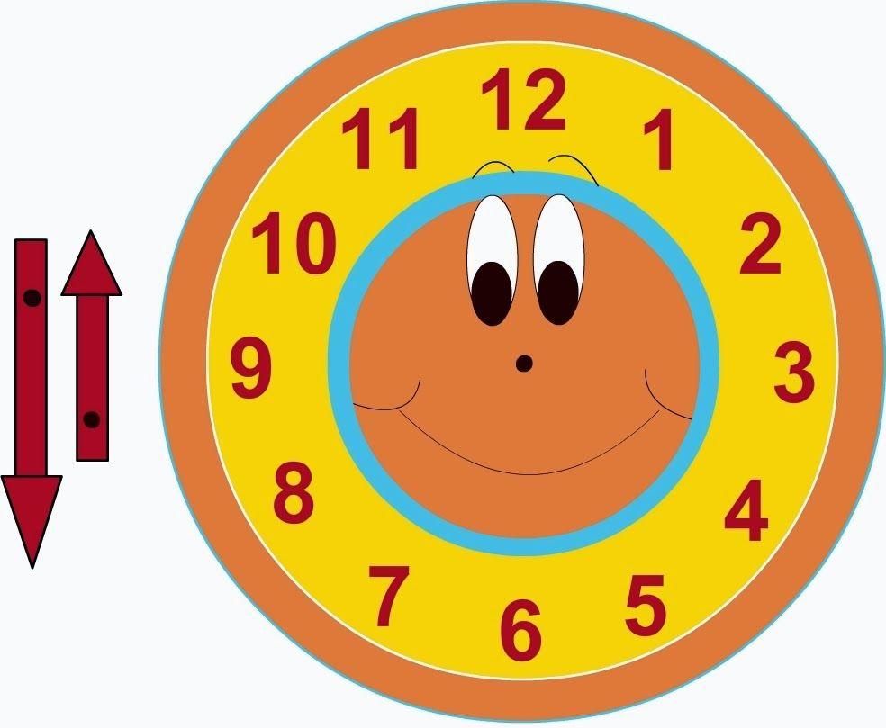 Desenhos e moldes, cliparts de relógios para preparar painéis e ...
