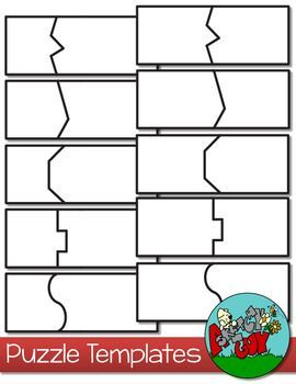 Puzzle templates 2 piece tpt pinning board pinterest for Puzzle cut out template