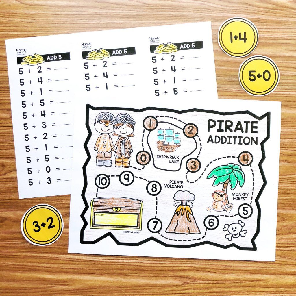 Free Pirate Math Facts Practice With Images