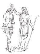 John The Baptist Baptized Jesus Coloring Page Bible New Testament