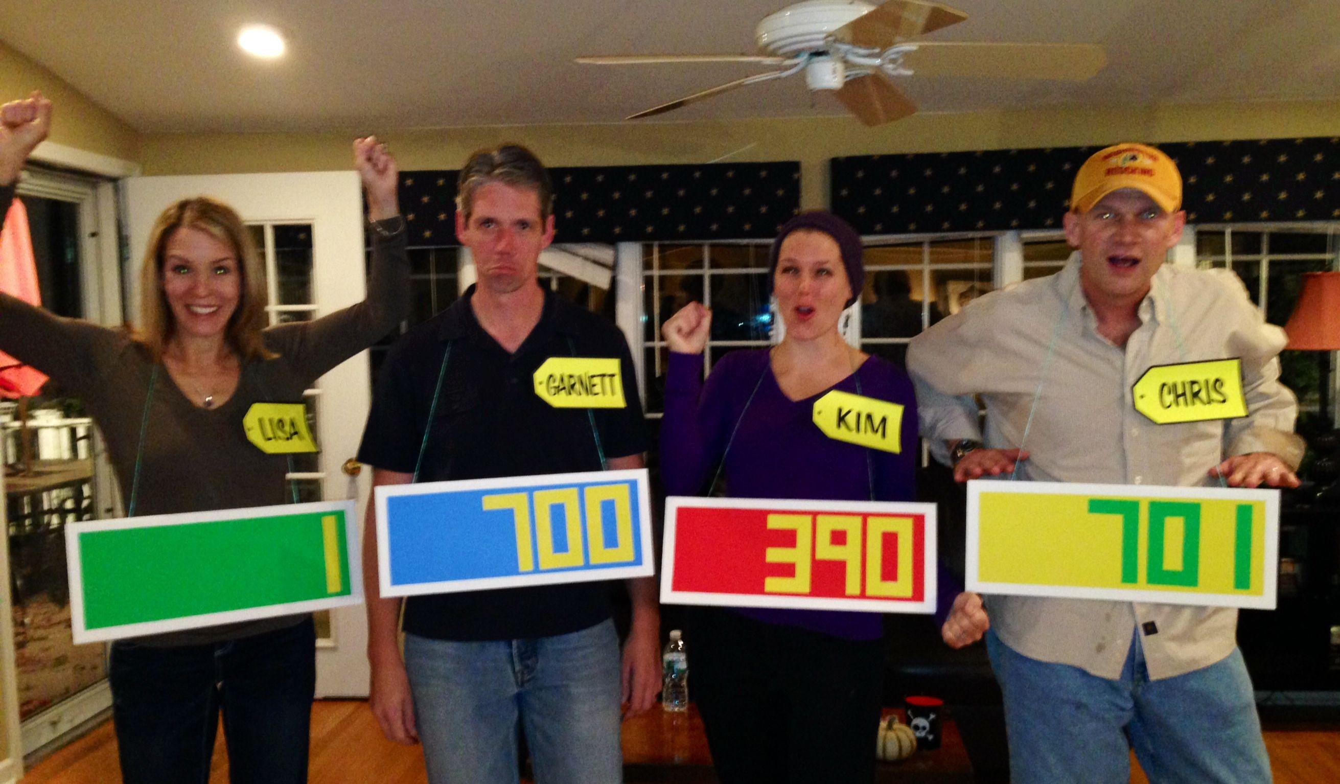 Halloween costume - Price is Right contestant. EASY DIY Halloween ...