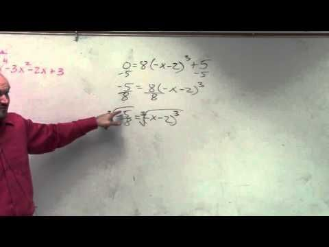 Algebra 2 How To Find The Real Zeros By Solving A Cubic Function
