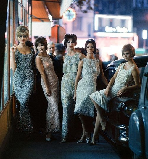 Sixties evening dresses photographed by Mark Shaw